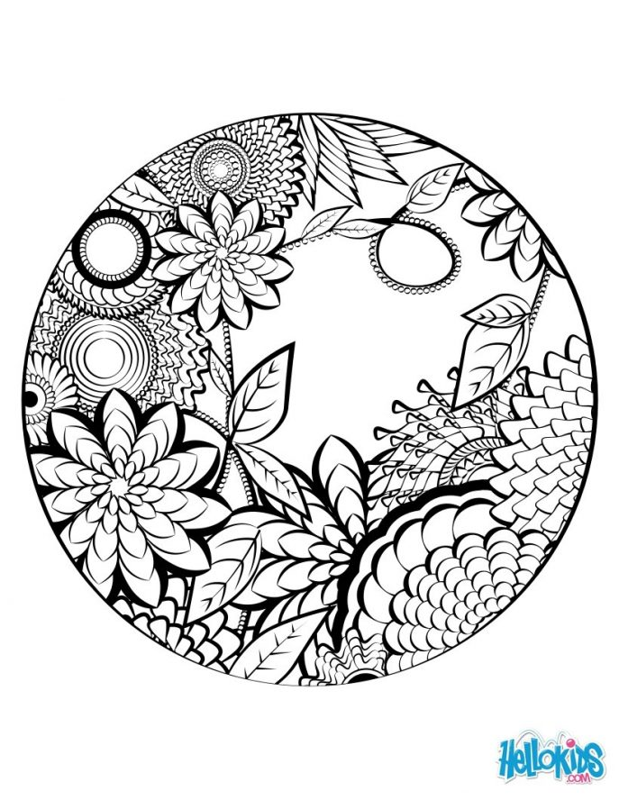 Relaxing Coloring Pages   Free download on ClipArtMag