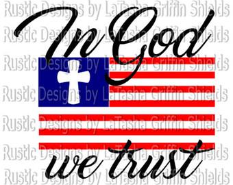 340x270 In God We Trust Svg Etsy