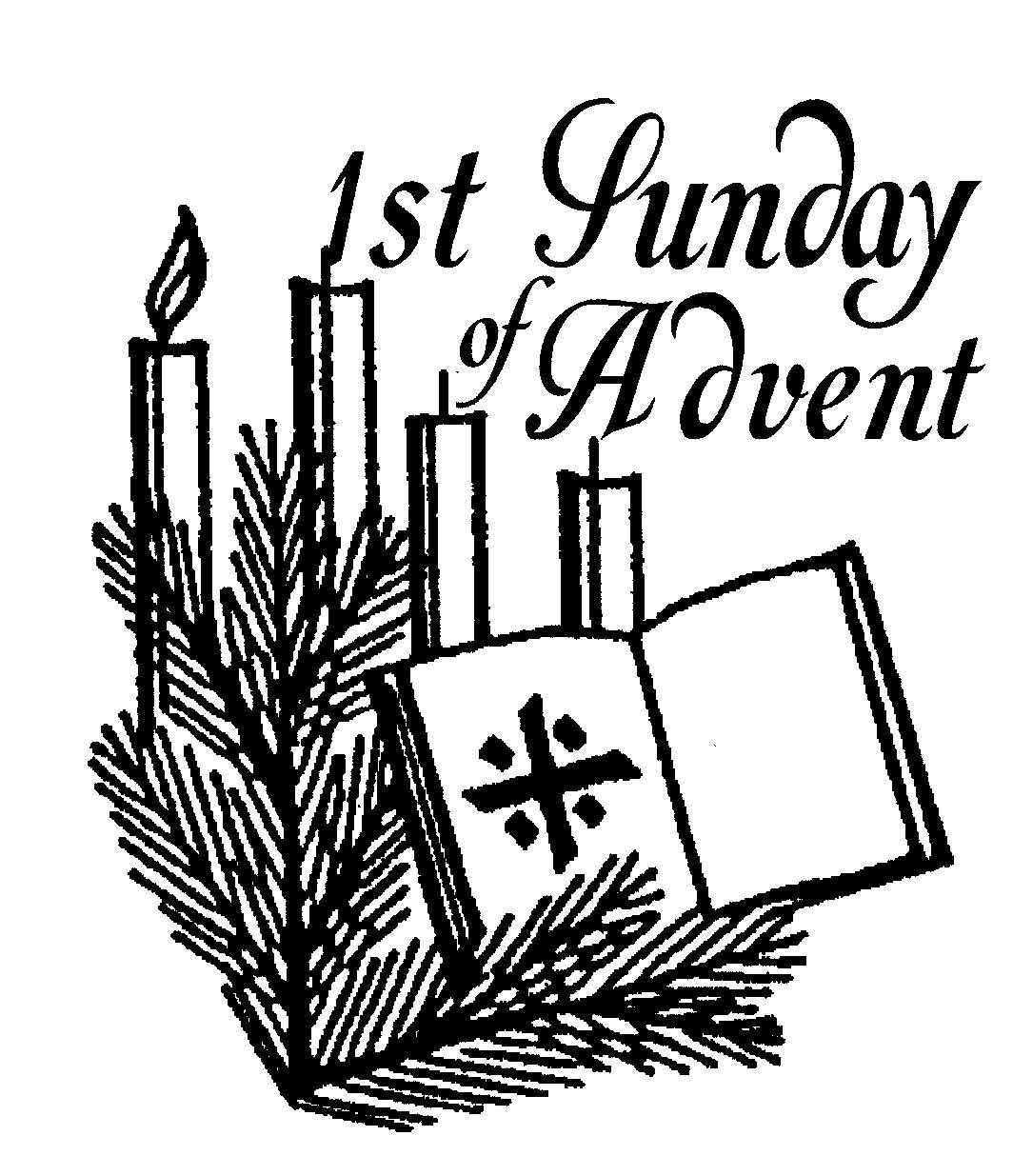 1085x1235 1st Sunday Of Advent Clip Art