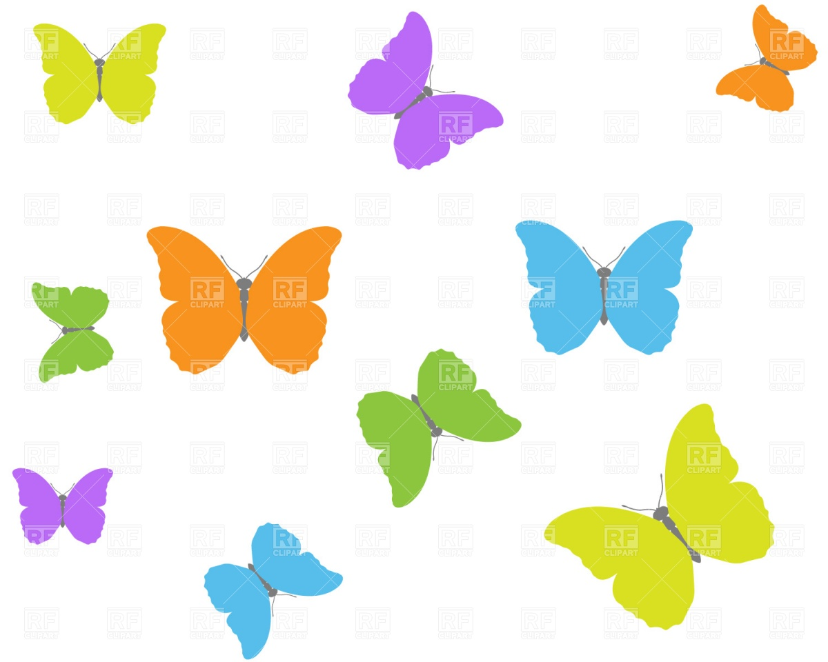1200x960 Butterfly Background Free Vector Clip Art Image