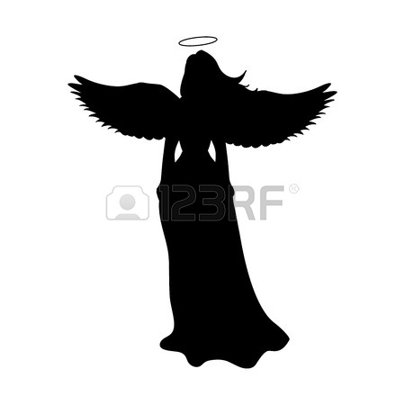 450x450 Angel Silhouette Christmas Religious Christian Royalty Free