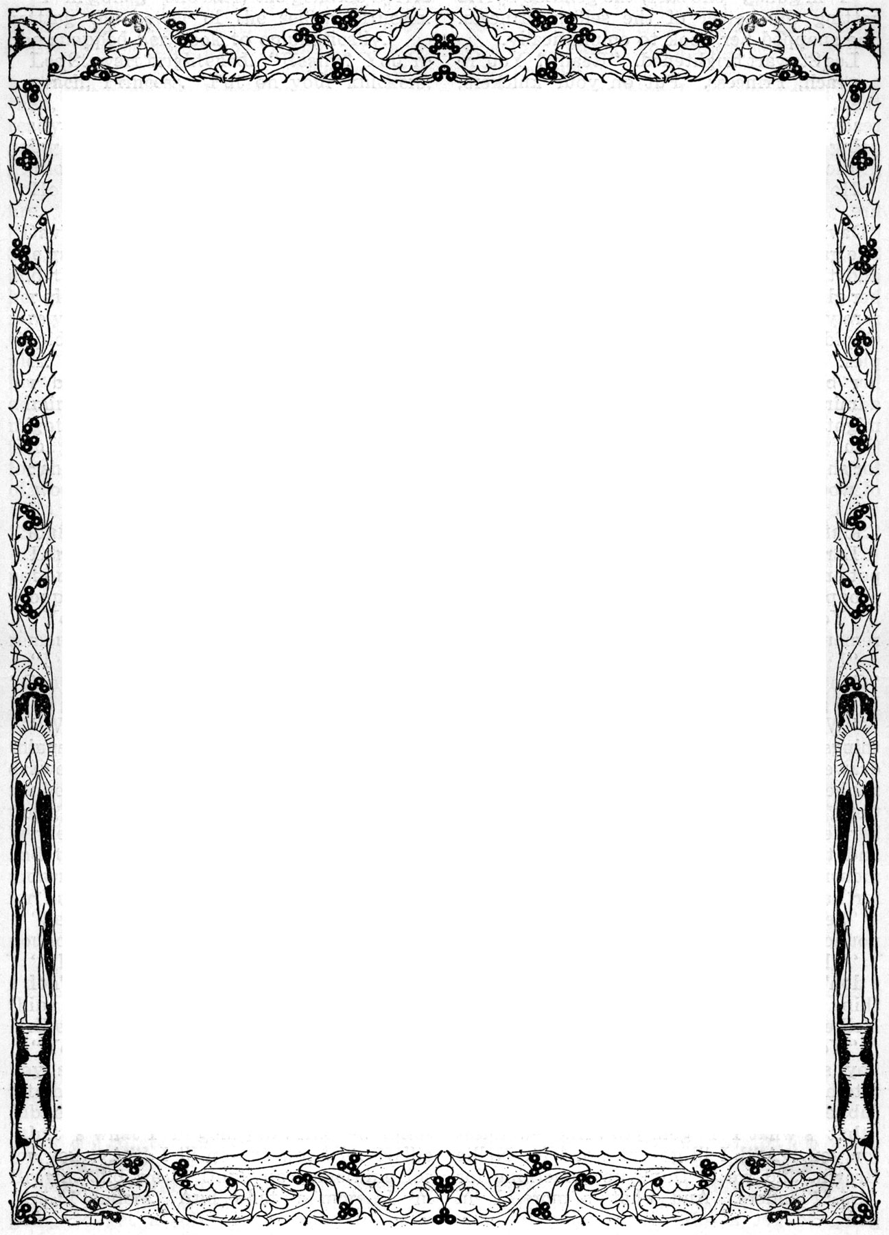 1296x1800 Religious Page Borders Clipart