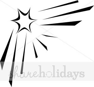 300x277 Shining Star Corner Christmas Star Clipart