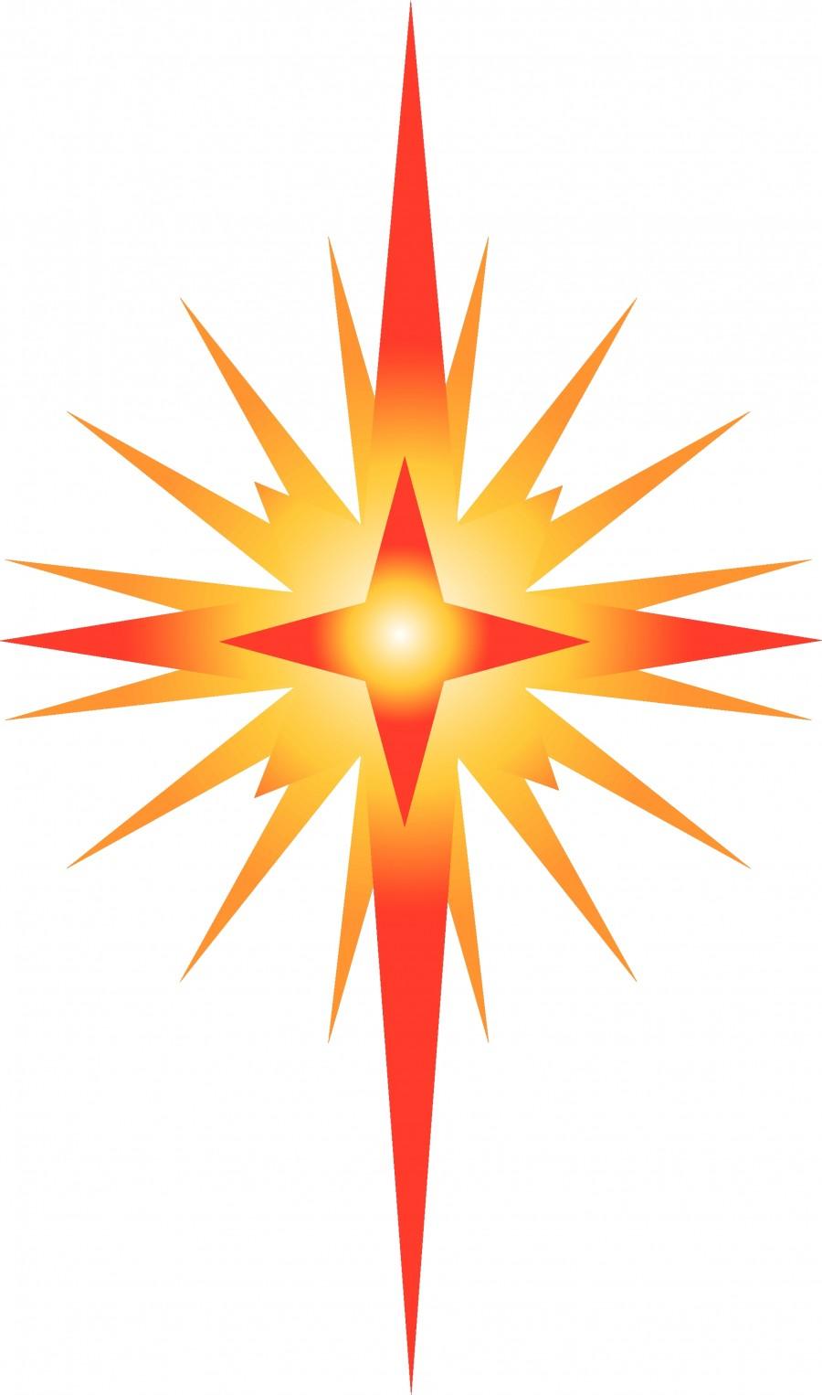 900x1526 Religious Christmas Star Clip Art Happy Holidays!
