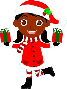 227x300 African American Christmas Clipart