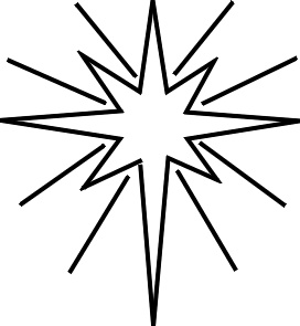 272x295 Christmas Star Black And White Clipart