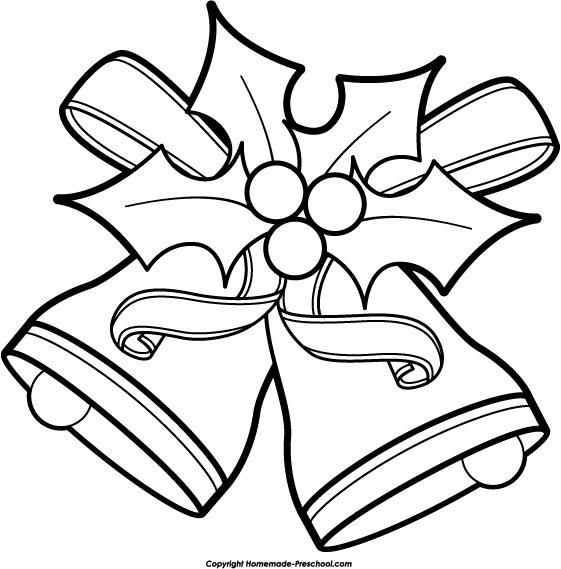 561x569 Christmas Clipart Black