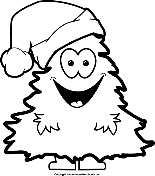 502x570 Black And White Christmas Clipart