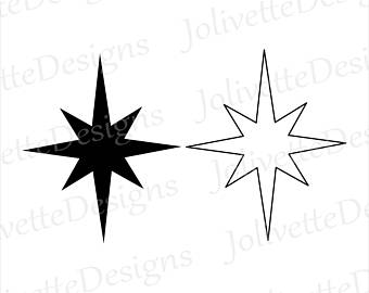 340x270 North Star Svg Etsy
