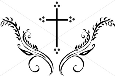 388x255 Image Of Black And White Cross Clip Art