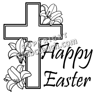 300x300 Christian Easter Black And White Clipart