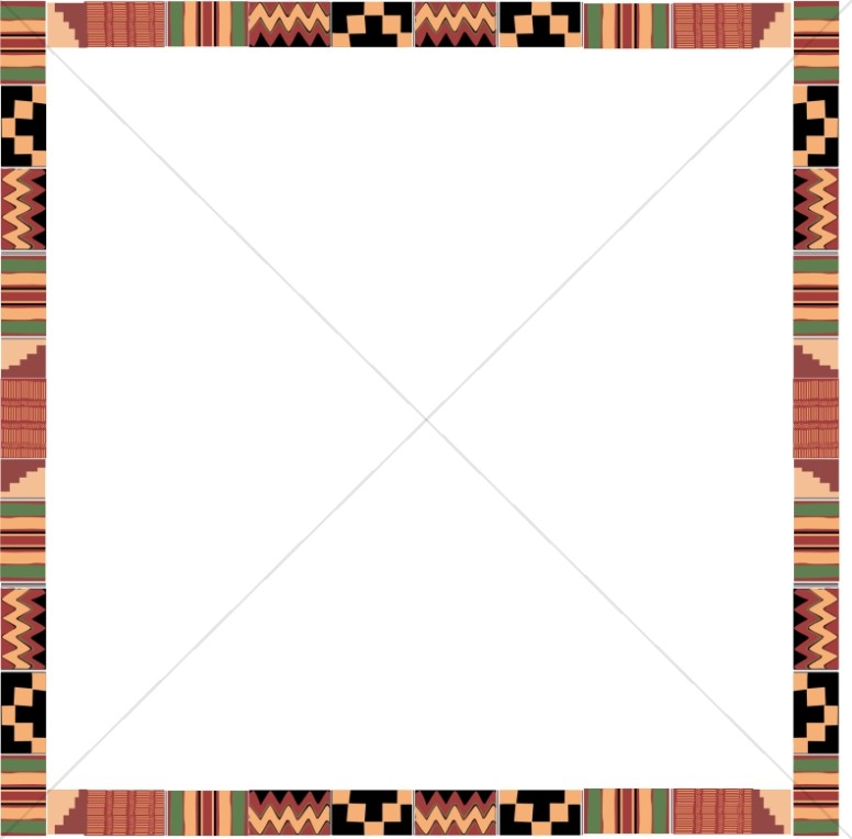 776x764 Kente Cloth Square Religious Borders
