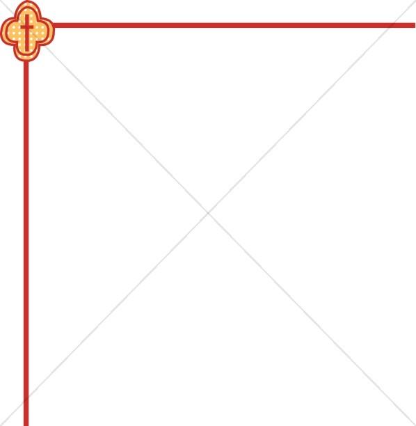 598x612 Patterned Cross Corner Border Religious Borders