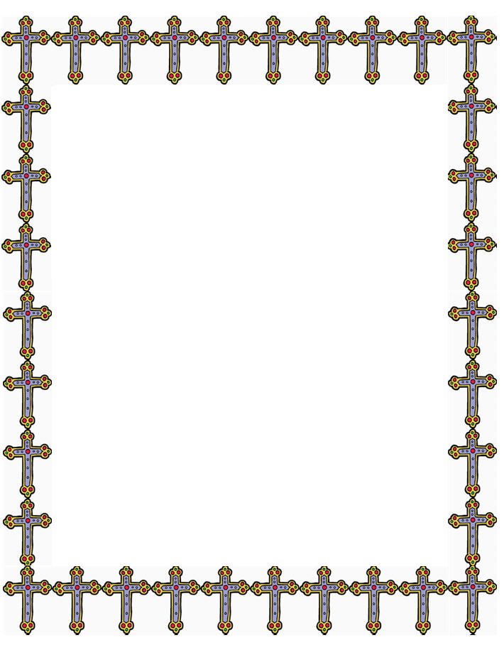 710x915 Cross Border Template Cross Baby Baptism And Christening