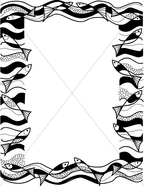 475x612 Christian Fish Border Clipart