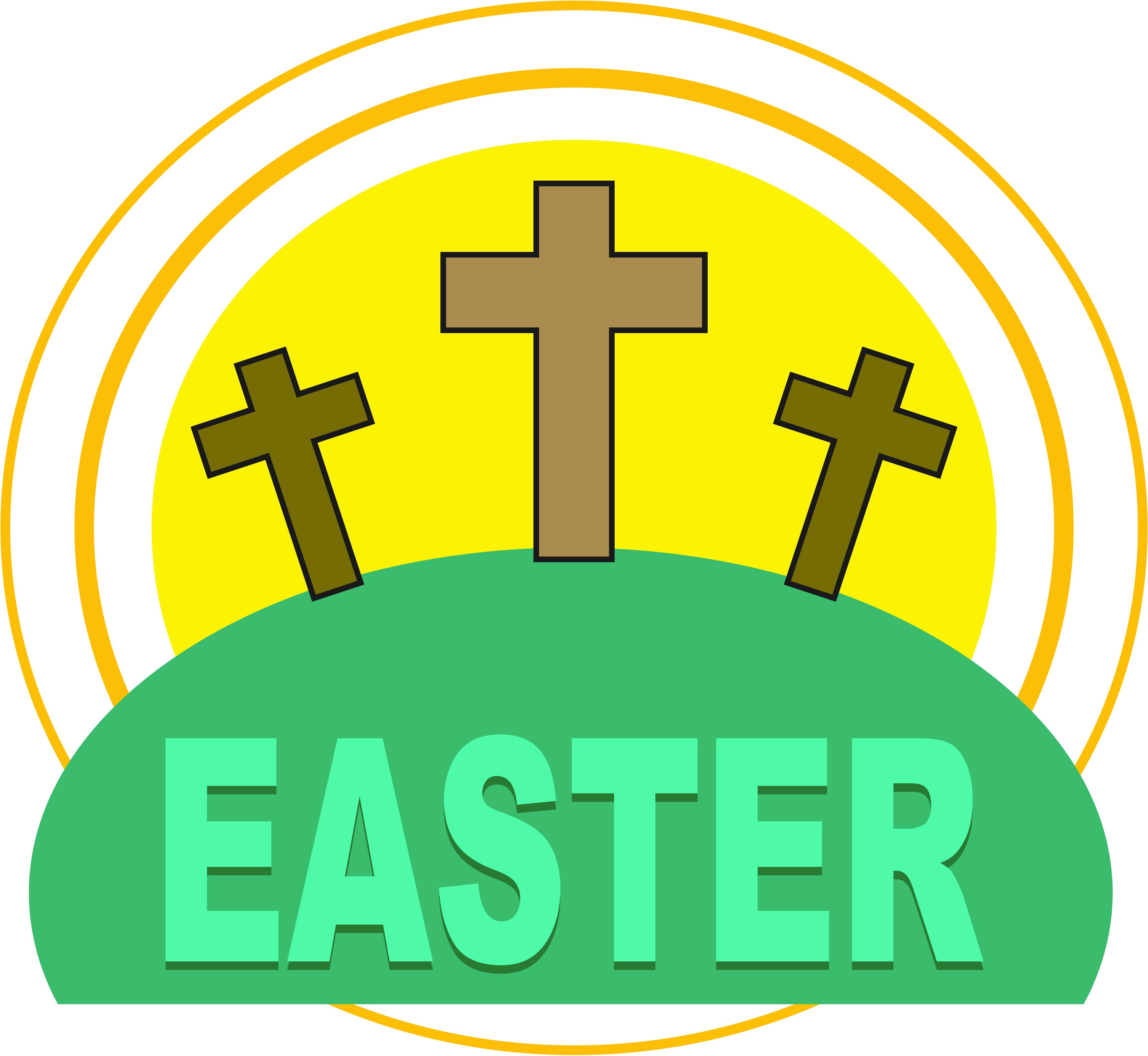 4169x3835 Easter Cross Clipart