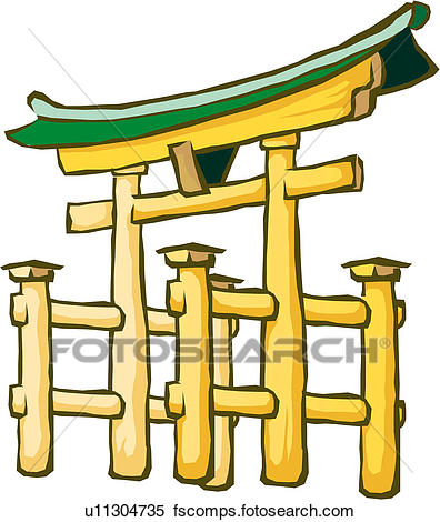 396x470 Clipart Of Japanese Religious Spot U11304735