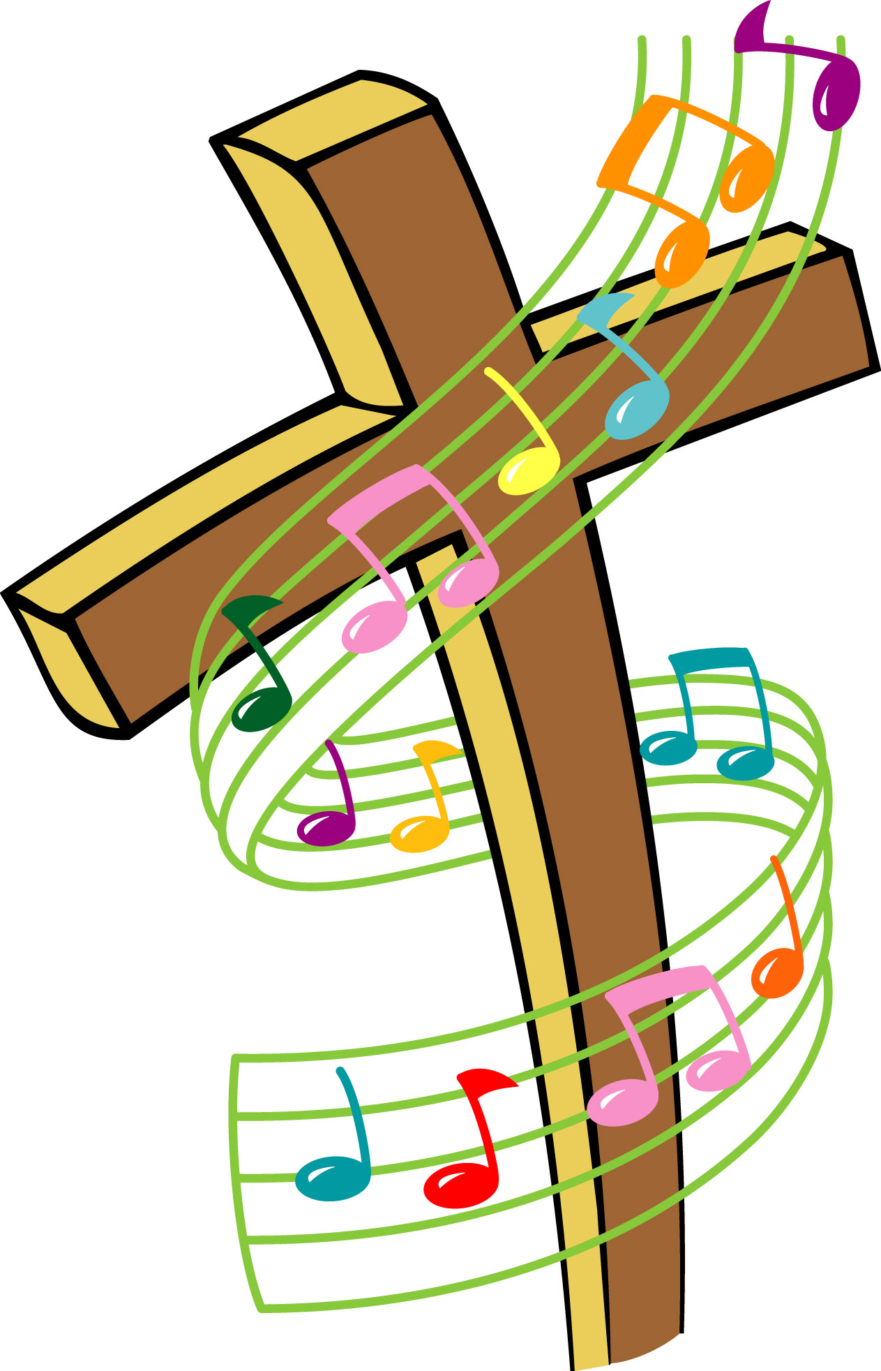 1263x1964 Religious Music Clipart
