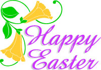 200x139 Christian Happy Easter Clip Art