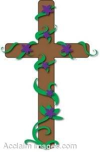 199x300 Cross With Vines Clip Art Clipart