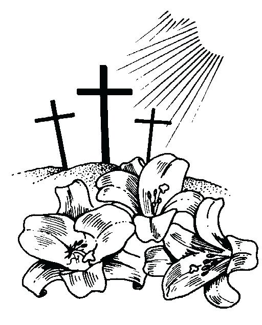 512x635 Easter Clipart Religious Religious Clip Art Black And White Easter