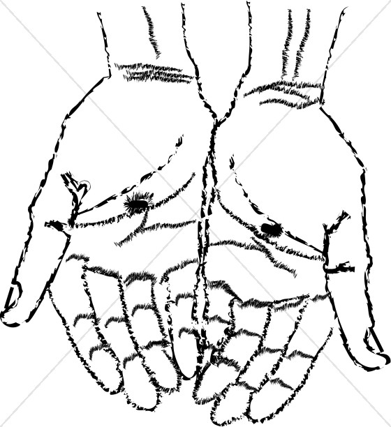 560x612 Hands Of Christ Easter Clipart