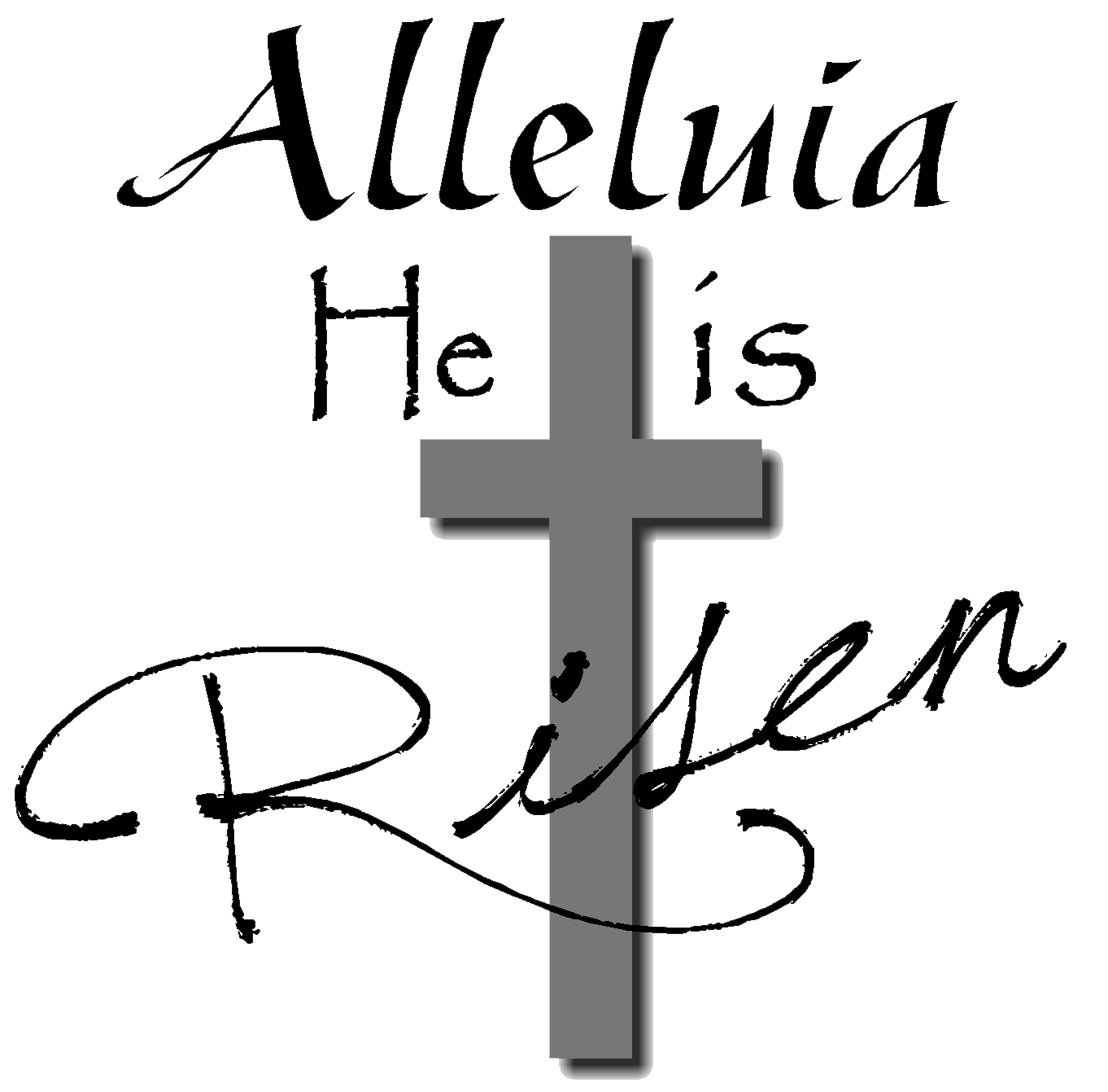 1362x1341 Christian Easter Black And White Clipart