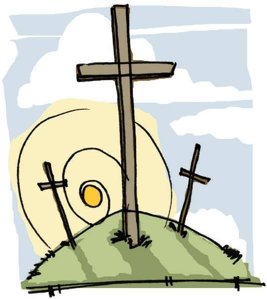 535x600 Free Clipart Easter Cross