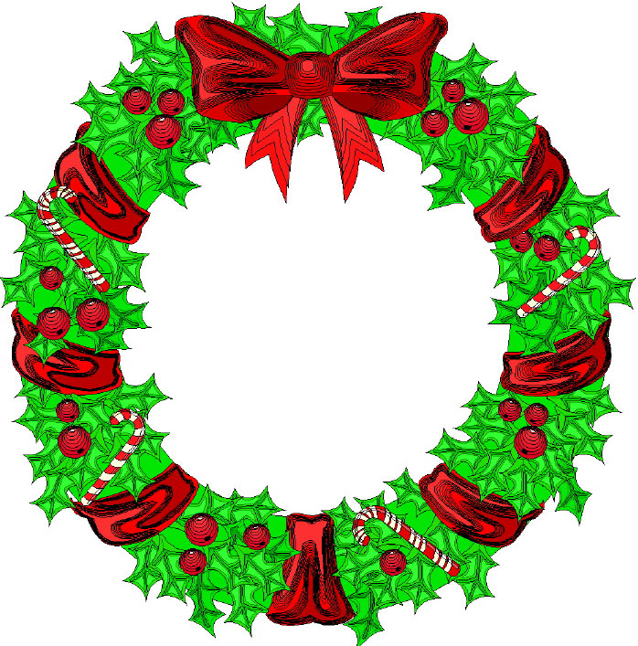 698x707 Graphics For Wreaths Merry Christmas Religious Graphics Www
