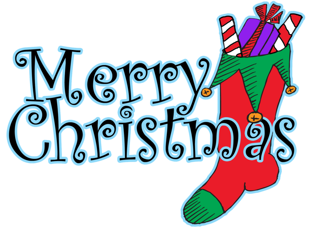 1024x752 Merry Christmas Clipart Word Art