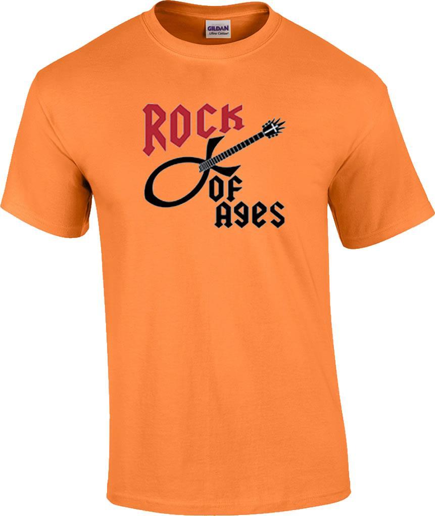 861x1020 Christian Rock Of Ages Guitar Music Cross Religious T Shirt Ebay