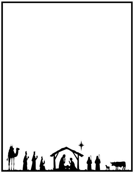 470x608 Christian Christmas Clipart Borders