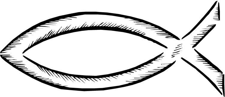 750x325 Christian Fish Symbol Clipart