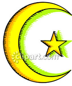 253x300 Islamic Religious Symbol Of The Crescent Moon And Star