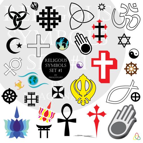 500x500 Religious Symbols Vector Set