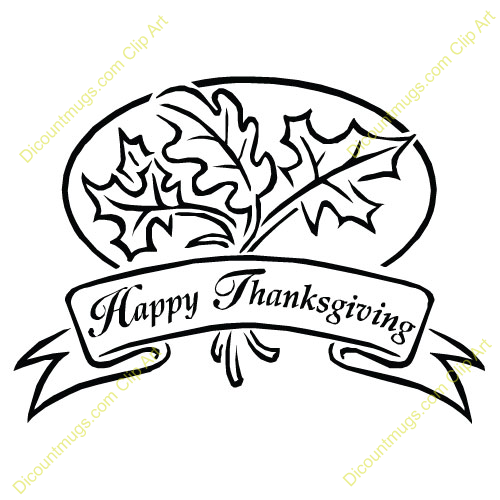 500x500 Black And White Christian Thanksgiving Clipart