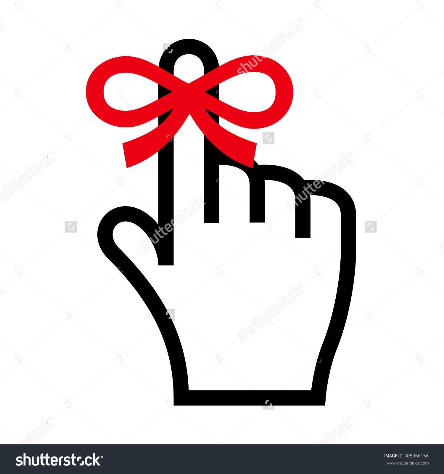 1500x1600 Finger With Ribbon Clipart