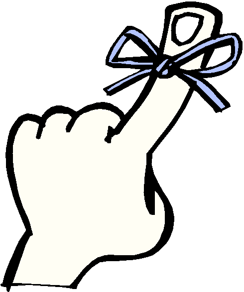 490x587 Finger With String Reminder Clip Art