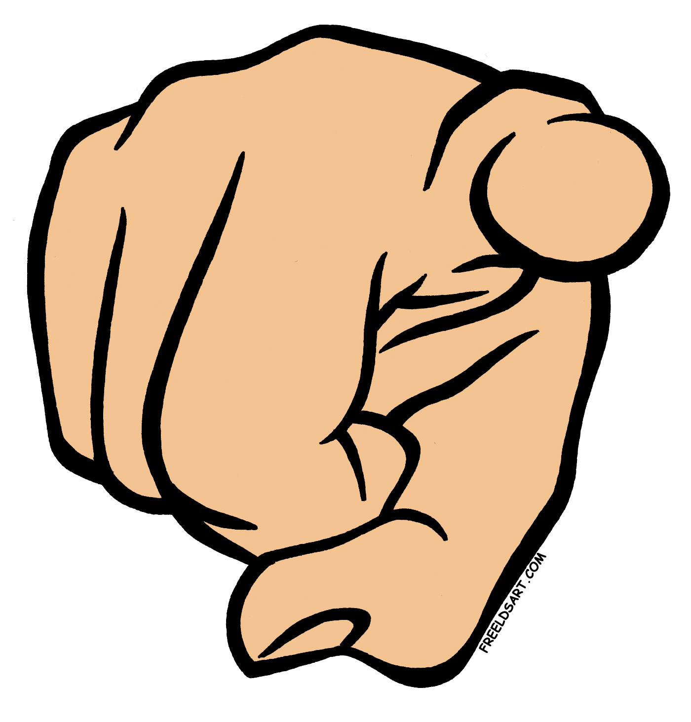 1400x1464 Finger Pointing Clipart