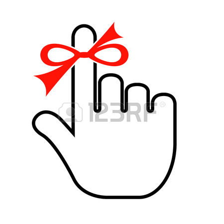 450x450 Finger With Ribbon Clipart