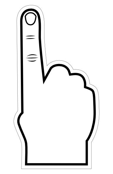 384x593 Foam Finger Clip Art Let's Go Hawks Clip Art