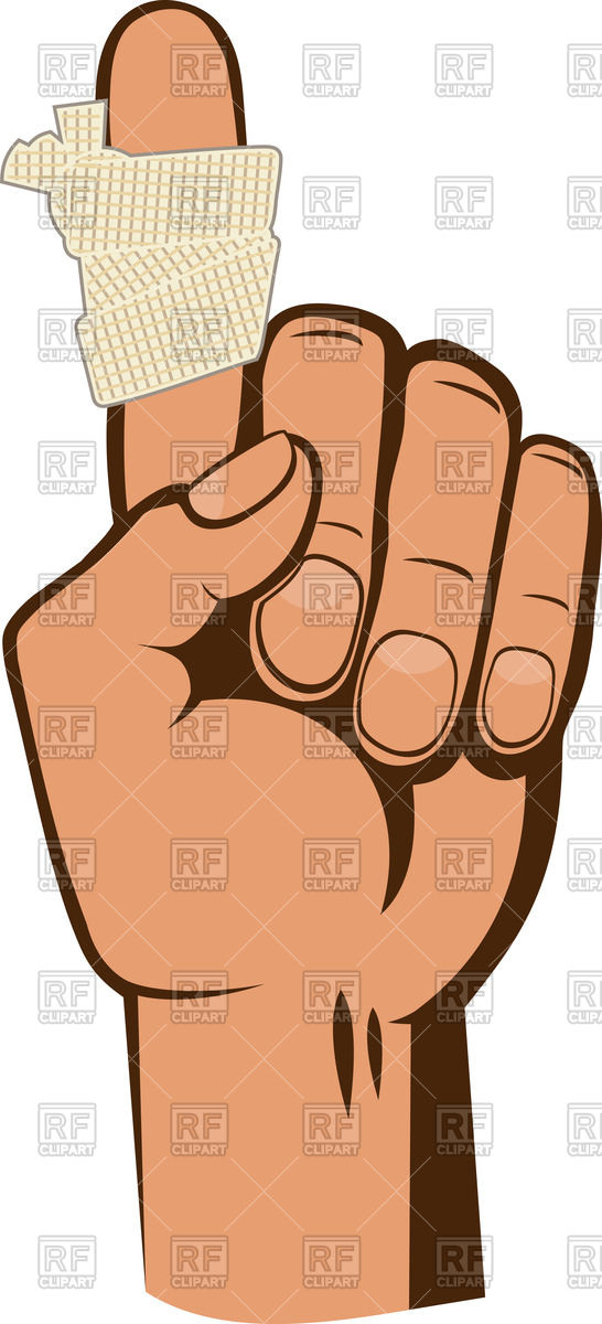 546x1200 Bandaged Index Finger In Warning Gesture