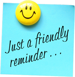 242x250 Just A Friendly Reminder Clipart