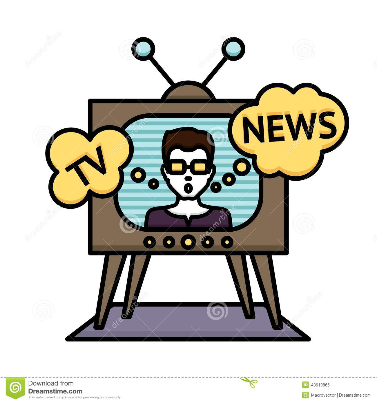 1300x1390 Tv Broadcast Clipart