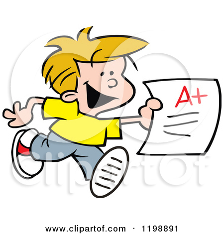 450x470 With Report Card Clipart