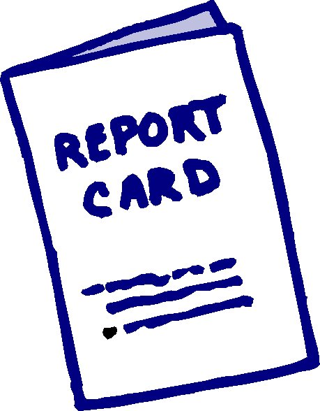 459x588 Blue Report Card Report Clipart