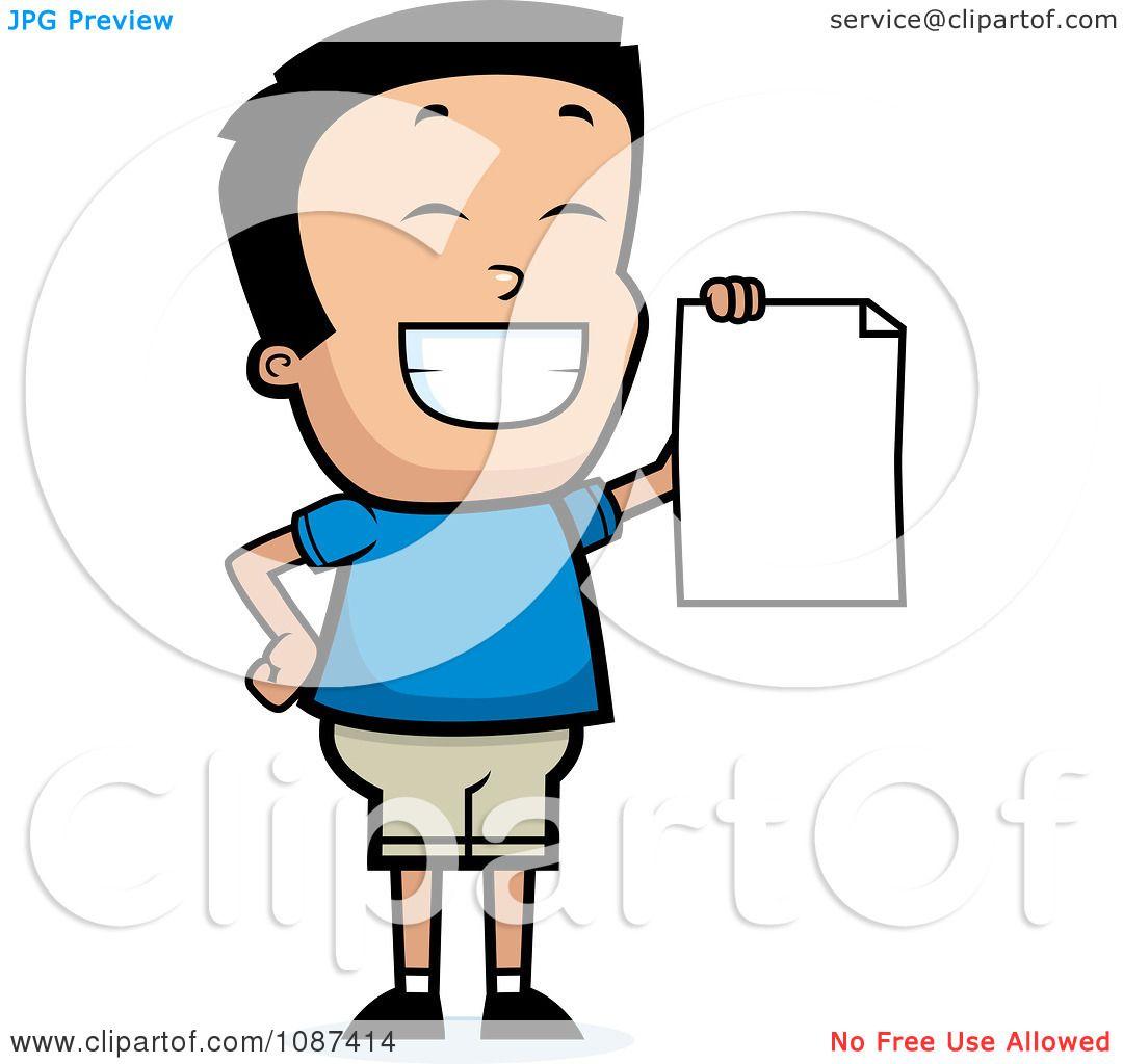 1080x1024 Clipart Smart School Boy Presenting His Report Card