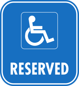 276x300 Reserved Disabled Parking Clip Art