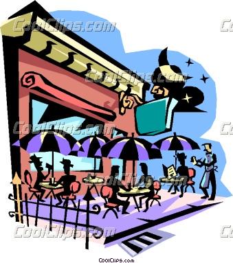 339x383 Family Restaurant Clipart