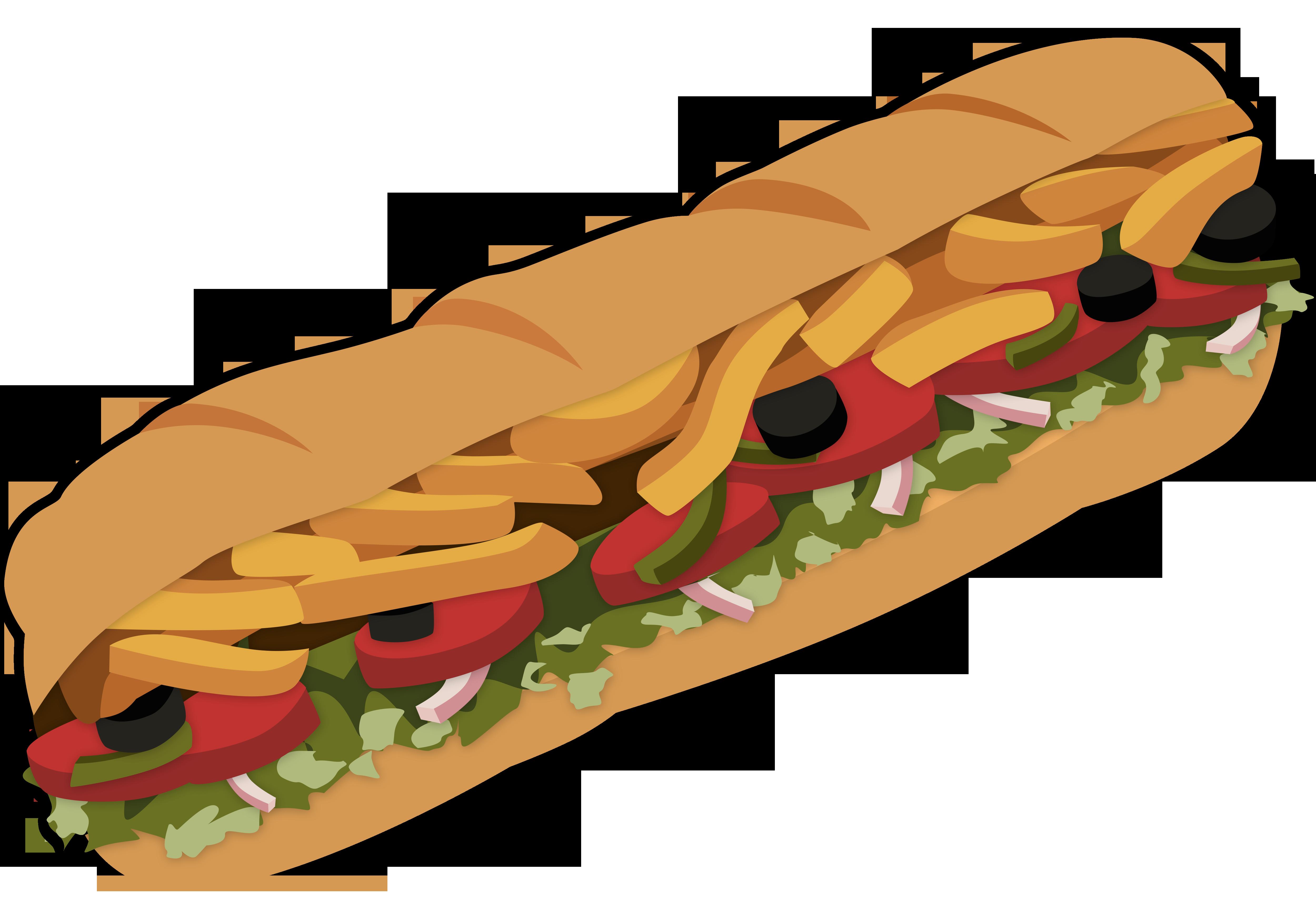 5000x3481 Bread Roll Clipart Subway Restaurant